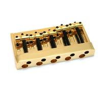 Ponte Modelo Jazz Bass P/ Baixo De 5 Cordas Na Cor Dourada