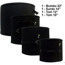 Kit De Bags 4 Pçs.: Bumbo 18, Surdo 14, Tons 8 E 10