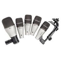Kit Microfones Samson Para Bateria E Percursão Kit Dk5