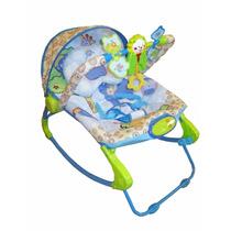 Cadeira De Descanso Bebê Balanço Musical E Vibratória Color