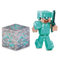 Minecraft Figura Diamante Steve C/ Acessórios - Multikids