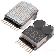 Alarme Monitor Buzzer Baixa Voltagem Baterias 1s A 8s