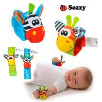 Pulseira Brinquedo Bebê Chocalho De Pelucia Para Pulso