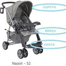 Capa P/ Carrinho De Bebê At6 Ou At2 Burigotto Cor- Napoli