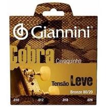 Encordoamento Para Cavaco Giannini Cc82l Tensao Leve
