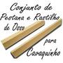 Kit Rastilho E Pestana De Osso Para Cavaquinho