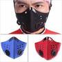 Máscara Anti Poluição Para Bicicletas E Motos - Vermelha -