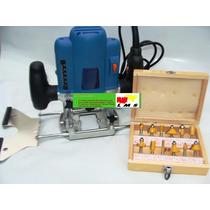 Tupia Coluna - Pinça 8mm E 6mm + Kit 12 Fresas 6mm - 110 V