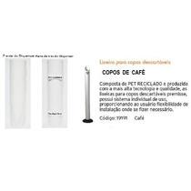 Kit 01 Dispenser + 01lixeira Para Copos Descartáveis De Café