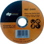 100 X Disco Corte Extra Fino Inox 4.1/2 X 1mm X 22,2mm