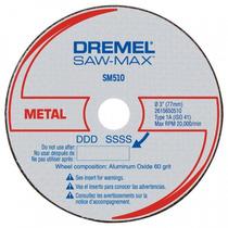 3 Discos De Corte P/ Metais - Saw-max - Dremel Sm510