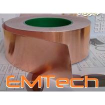 Fita De Cobre Adesiva - Blindagem De Instrumentos 2m X 5 Cm