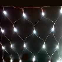 Rede 160 Leds 110v Sem Estrela Branco 8 Funções Natal