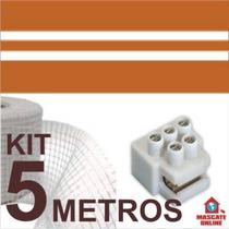 Kit Fita Elétrica 3 Pistas - 5 Metros. Eletrofitas