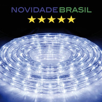 Mangueira Luminosa Led Sancas / Natal - Branco, Azul / Metro