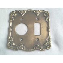 Espelho Placa De Luz Em Metal Decorado 4 X 4