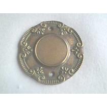 Espelho Placa De Luz Em Metal Decorado P/ Cx 3 X 3 Octog