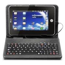 Capa Case De Couro Com Teclado Usb Para Tablet 7 Polegadas