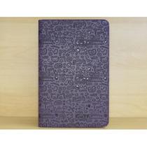 Capa Case Couro Desenho Roxa Tablet Lg G Pad V700 10.1