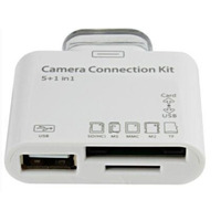 Kit Connection 5 Em 1 Ipad Camera Usb Leitor Cartao Sd 5in1
