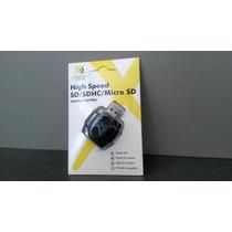 Adaptador Leitor Usb Sd Pendrive Sd Sdhc Micro Sd