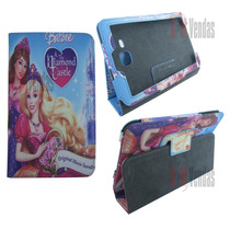 Capa Carteira Barbie P/ Tablet Samsung Tab 3 Lite T110 T111