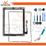 Kit Tela Touch Ipad 3 Home Cola Flex Wifi Frame Ferramentas