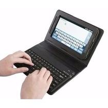 Case Tablet Samsung Galaxy P1000 Em Couro Com Teclado