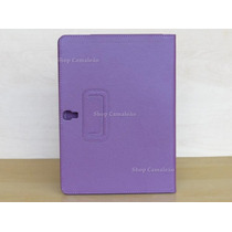 Capa Case Couro Roxa Lisa Tablet Samsung Galaxy Tab S 10.5 S