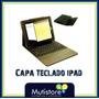 Capa Case Teclado Para Ipad 4 Bluetooth Dobrável De Couro