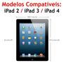 Capa Couro Giratória 360 Tablet Apple Ipad 2 3 4 + Película