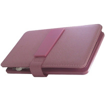 Capa Case De Couro Teclado Usb Para Tablet 7 Polegadas Rosa
