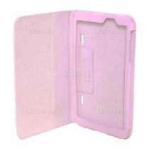 Capa Case Capinha Couro Rosa Para Tablet Lg G Pad 8.3 V500
