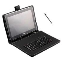 Capa Couro + Teclado Usb Universal + Caneta Tablet 8 E 8.9