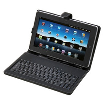 Capa Couro + Teclado Usb Universal + Caneta Tablet 7 E 7.7