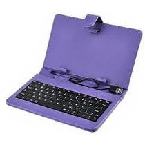 Case Capa Com Teclado Para Tablet 7-polegadas Case Cor Roxa