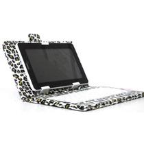Capa Tablet 7 Polegadas Com Teclado Desenho Onça Frete Gráti