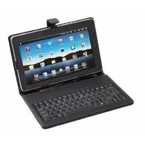 Capa Com Teclado Usb Para Tablet 7 Polegadas + Caneta Touch