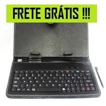 Capa Couro Com Teclado Tablet Genesis 7 Polegadas Frete Free