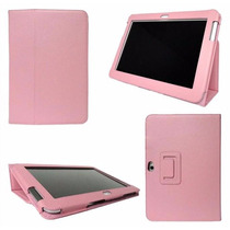 Capa Samsung Galaxy Note 10.1 N8020 De Couro Lisa + Pelicula