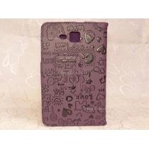 Capa Case C/ Desenhos Roxa Tablet Samsung Galaxy Tab3 Lite 7