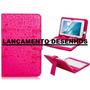 Capa Case Com Teclado Para Tablet 7 Pol Desenhada Pink Rosa