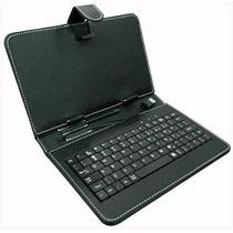 Teclado P/ Tablet 7 Polegadas C/ Capa Case Em Couro Via Usb