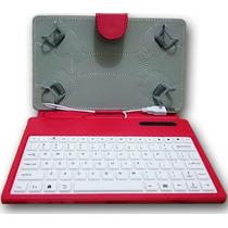 Capa Case Com Teclado Usb Para Tablet 7 Polegadas Coloridas