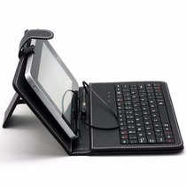 Capa Com Teclado Usb Para Tablet Case Tela De 7 Polegadas