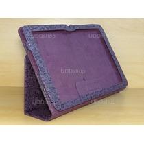 Capa Case Couro Desenho Roxa Tablet Lg G Pad V700 Android 10