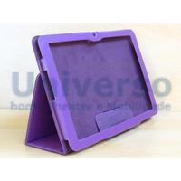 Capa Case Couro Roxa Lisa Tablet Lg G Pad V700 Android 10.1