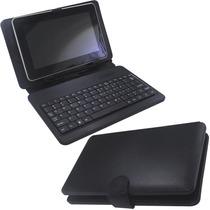 Capa Case Com Teclado Para Tablet De Até 7 Polegadas Roxa