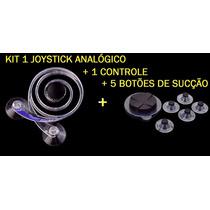 Kit Joystick Analógico + Joystick Sucçãp P/ Ipad / Tablets