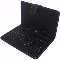 Capa Tablet Case Com Teclado 7 Saída V8 Preta.